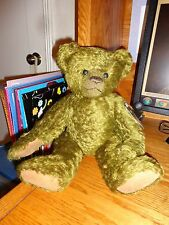 """Vintage Teddies Bear Coppertown 15"""" Green Mohair Growler One Of  Kind W Tags"""