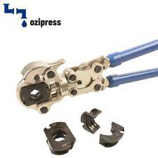 "OziPress Copper & Pex Press Crimp Fittings Plumbing Tool 1/2"" 3/4"" 1"""
