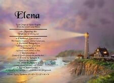 First Name Meaning Certificate -  gift ideas - Birthday -  Lighthouse