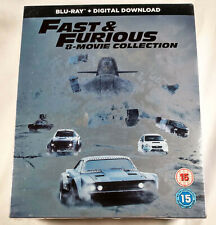 THE FAST AND FURIOUS 8-Movie Collection Unopened BLU-RAY Set 1-8 fate of 4 5 6 7