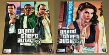 """GRAND THEFT AUTO V 28""""x 22"""" STORE DISPLAY PROMO POSTER 2-SIDED MANCAVE GAME ROOM"""
