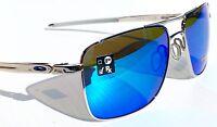 NEW* Oakley GAUGE 6 CHROME PRIZM Sapphire lens Sunglass 6038-02