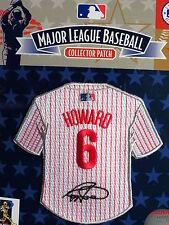 MLB Philadelphia Phillies Ryan Howard Facsimile Autograph Mini-Jersey Patch