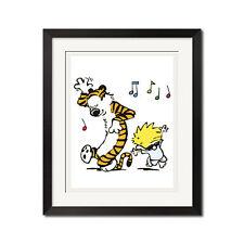 Calvin and Hobbes Dancing Poster Print