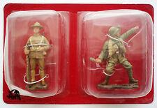 Figurine Hachette 1e Guerre Mondiale Soldat US + Strosstruppe Allemand 1918