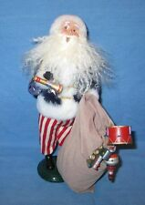 Byers Choice 4th of July Santa Claus w/ Bag Full of Toys Signed Byers