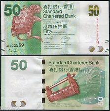 HONG KONG SCB Standard Chartered Bank 50 Dólares dollars  2010 Pick 298 SC / UNC