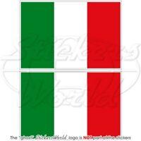 ITALIE Drapeau ITALIEN Italia Vinyle Stickers Autocollant 75mm x2