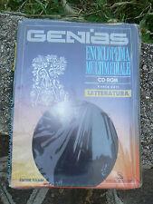 NUOVO GENIAS enciclopedia multimediale CD-ROM Letteratura edizione italiana