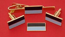 9TH BATTALION ROYAL QUEENSLAND REGIMENT GOLD PLATED & ENAMEL SET JEWELLERY