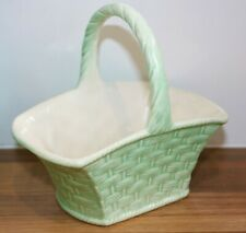 post-war pottery basket bonbon dish george clews & co ltd.