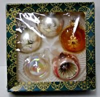 Vintage Christmas Ornaments Hand Blown Glass Made in Germany Mixed Lot 5 Round