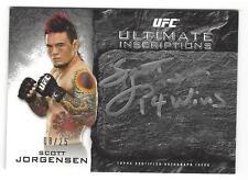 2014 Topps UFC Knockout Scott Jorgensen Ultimate Inscriptions '14 wins' 08/25