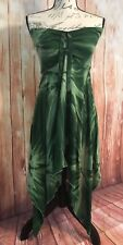 Sleeveless Tube Top Dress Floral Green Jagged Bottom Size 1 Sweet Lady