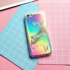Holographic 3D Molten Drops Transparent TPU For iPhone 5 6 7 Mobile Phone Case