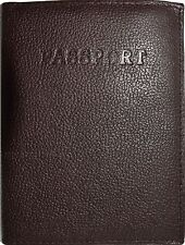 New Leather passport cover, Brown Unbranded international leather passport case*