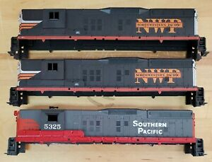 HO Scale Athearn 3 Southern Pacific &  Northwestern Pacific SD9 SHELLS SP NWP