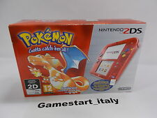 CONSOLE NINTENDO 2DS RED POKEMON VERSION - NEW PAL VERSION - RARE