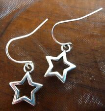 Small Silver Tibetan Shooting Star Drop Earrings Free Shipping Great Gift Idea