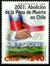 CHILE, ABOLITION OF DEATH PENALTY, MNH, YEAR 2002