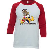 San Diego Conquistadors Aba Basketball Team T-shirt Tee Shirt 3/4 Sleeve Raglan