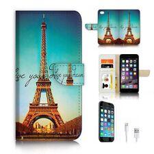 ( For iPhone 6 / 6S ) Wallet Case Cover P6213 Paris Eiffel Tower