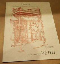 1950's Menu & Wine List Arnaud's Restaurant New Orleans Louisiana French Quarter