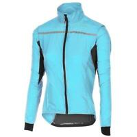 Castelli Superleggera Women's Cycling Jacket, Size Small, Blue, NEW