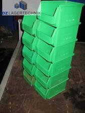 LF 221 grün Lagerkasten Kiste Sichtlagerbox Stapelbox Lager 234x150x122 10 St.