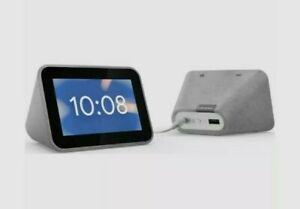 Lenovo smart clock with google assistant - Hemp Grey