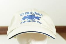 BLUE RIBBON CHEVROLET CHEVY TRUCK OKMULGEE OKLAHOMA TAN BASEBALL CAP BALL HAT
