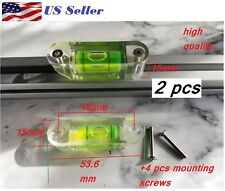 2 pcs 15x15mm Bubble Spirit Level  Measuring tool Spirit Level Ruler 4 screws