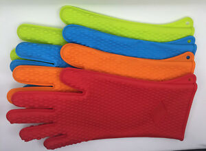 Silicone Oven Glove Cooking Baking BBQ Microwave Heat Resistant Gauntlet 1 PC