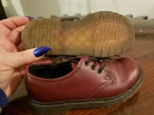 AUTHENTIC Doc Martens BRICK RED leather lace SHOE boots toddler girl boys SZ 10c