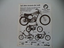 advertising Pubblicità 1975 MOTO PUCH MC 125/MC 175/MAXI/GS 50