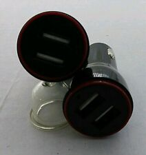 Nnb 2pk 5V 2.4A Dual Usb Port Cigarette Lighter Adapter Car Charger Black *B1