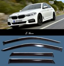 Chrome Trim Side Window Visors Guard Vent Deflectors For BMW 5 G30 2017-2018