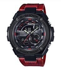 Casio G-Shock G-STEEL * GST210M-4A Black Steel Case Gloss Marble Red Resin