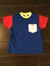 Vintage 90s Retro Esprit Mini Sportiv Red Blue Yellow Colorbloc Top Youth Age 6