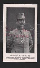 1915, Bildnis Portrait General-Major Dr. Bardolff WWI