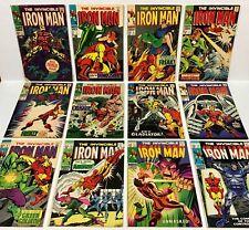 IRON MAN #1,2,3,4,5,6,7,8,9,10,11,12 NICE KEYS! (12 comics, straight run) Marvel