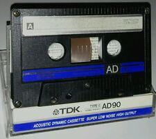 10 TDK ad 90 AUDIO Tape Cassetta 1986 ANNO