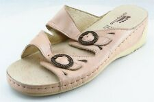 Spring Step Slides Pink Leather Women Shoes Size 37 Medium (B, M)