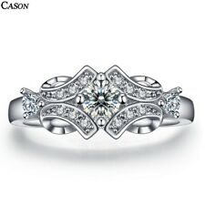 Women AAA Cubic Zirconia Ring 18K White Gold Engagement Rings Jewelry Gift 6-9