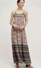 Anthropologie Tiered Paisley Print  Maxi Dress Floreat Multicolor XS Petite