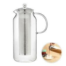 0°-300° Cold Brew Coffee Maker Iced Tea Infuser Stainless Steel Filter Mason Jar