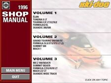 1996 Ski-Doo SkiDoo SKANDIC 380 500 Wide Track MX Z 440 Shop Repair Manual 96 CD