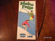 """1985    """" IDAHO FALLS"""" ROAD MAP"""