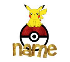 Personnalisé Pokemon GO//PIKACHU Fête Bunting//Bannière//décoration anniversaire