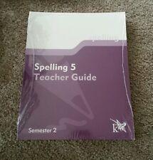 K12 Spelling 5 Teacher Guide Semester 2 Curriculum Book  (Paperback 2003) 11512